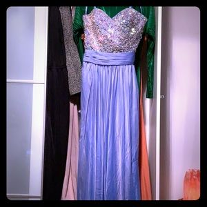 Bejeweled evening gown